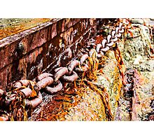 Rusty Old Chain Photographic Print