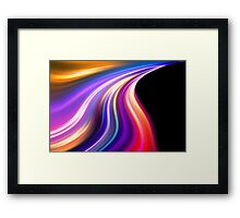 original art abstract colorful waves Framed Print