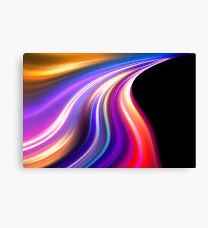 original art abstract colorful waves Canvas Print