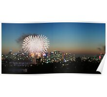 New Years Eve fireworks over Sydney Poster