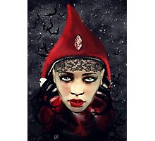 Lady Red Photographic Print