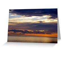Bass Strait Sunset Greeting Card