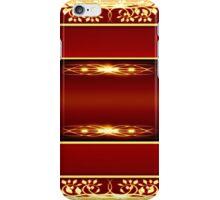 vintage golden floral design iPhone Case/Skin