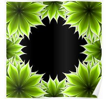 abstract floral  frame  Poster