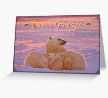 Season's Greetings from a polar family Greeting Card