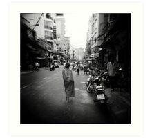 Monk Saigon Vietnam Art Print