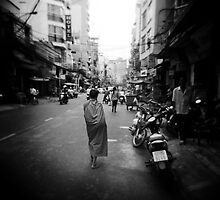 Monk Saigon Vietnam by Steve Lovegrove