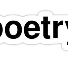 poetry Sticker