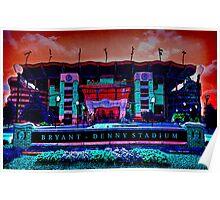 Alabama Crimson Tide Bryant Denny Stadium Poster