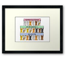 Congratulations on becoming a big sister. Framed Print