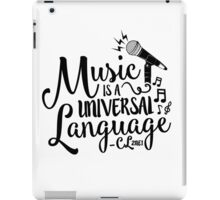 """Music is a Universal Language"" - CL,2NE1 iPad Case/Skin"
