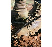 vineyard managers boots Photographic Print