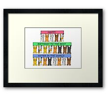 Happy Birthday Best Sister in the World Framed Print