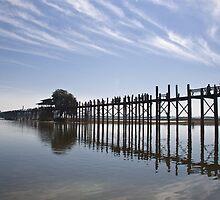 Amarapura U Beins Bridge by PhotAsia
