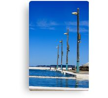 Lights in blue Canvas Print