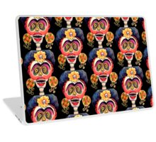 Frida Laughing Calavera Skeleton Dia de los Muertos Laptop Skin
