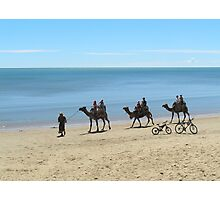Camel Ride at Scarness Beach Photographic Print