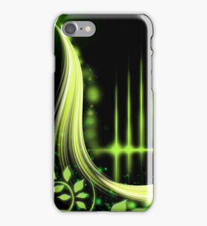 abstract green design iPhone Case/Skin