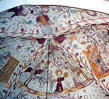 Frescoes, Elmelunde Church, Denmark by Margaret  Hyde