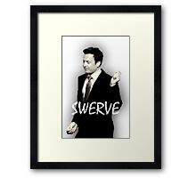 Fallon Swerve White Framed Print