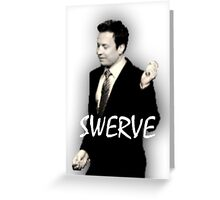 Fallon Swerve White Greeting Card