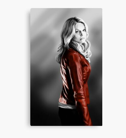 Emma Swan and the Red Leather Jacket Canvas Print