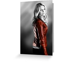 Emma Swan and the Red Leather Jacket Greeting Card