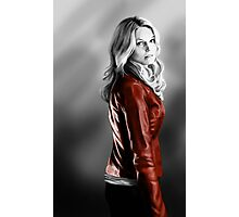 Emma Swan and the Red Leather Jacket Photographic Print