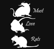 Must. Love. Rats 2011 - 3 Rats Down in White by MustLoveRats