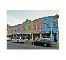Rainbow Plaza Art Print