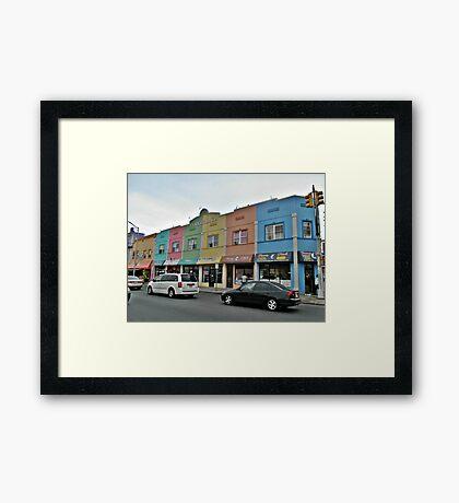 Rainbow Plaza Framed Print