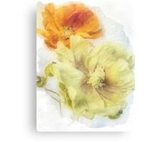 Soft Poppies Canvas Print