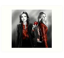 Emma and Regina and Red Art Print