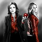 Emma and Regina and Red by webgeekist