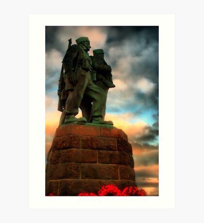 Commando Memorial Spean Bridge Art Print