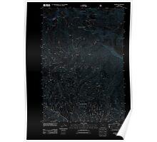 USGS Topo Map Oregon Bourne 20110801 TM Inverted Poster