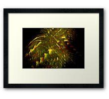 Golden Peacocks Framed Print