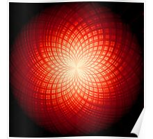 abstract radial geometric design Poster
