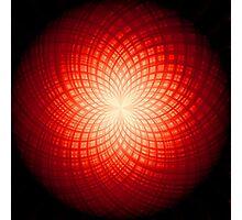 abstract radial geometric design Photographic Print