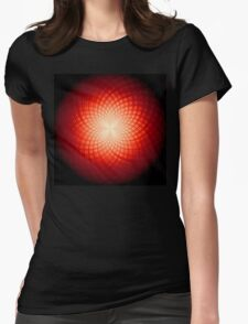 abstract radial geometric design Womens Fitted T-Shirt