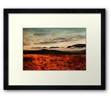 Low Highland Sun near Loch Laggan Framed Print