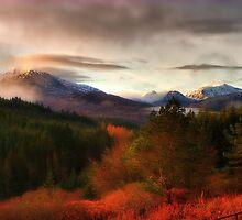Snowy Scottish Mountain peaks by Nik Sargent www.inpictur.es