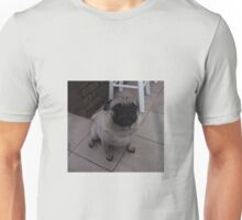 Fawn Pug Sitting on the Tile Floor Unisex T-Shirt