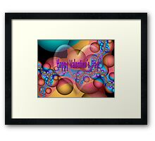 Happy Valentine's Day card Framed Print