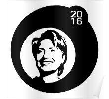 hillary clinton 2016 bubbleblack Poster