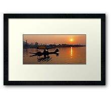 Sunset at Dal Lake Framed Print
