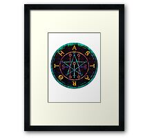 SEAL OF ASTAROTH - cold Framed Print