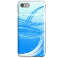 abstract blue wave iPhone Case/Skin