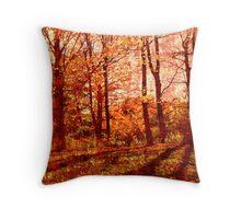 memories of fall Throw Pillow