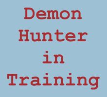 Demon Hunter in Training Kids Tee
